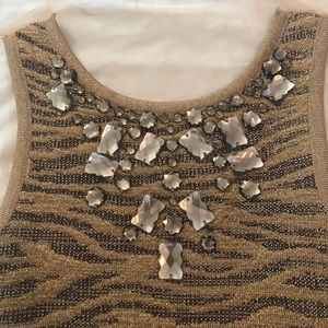 Crystal knit fit and flare vintage short small
